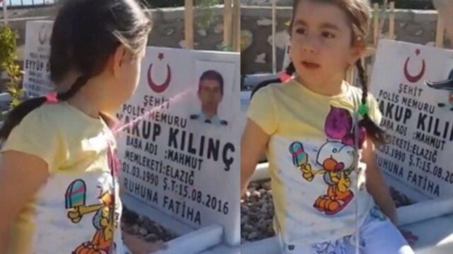 Şehit polisin kızının annesine sorduğu soru duygulandırdı.