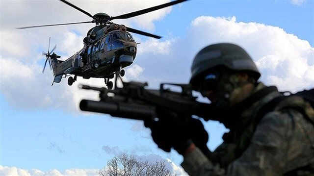 Turkish security forces proceed with operations targeting terrorist organizations.