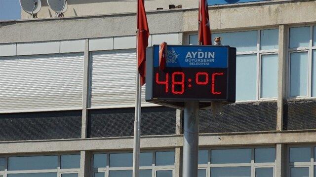 Aydın'da sıcaklıklar bir hayli yükseldi