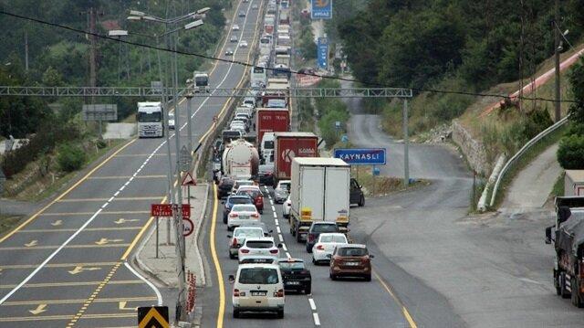 Bolu Dağı'nda trafik durma noktasında