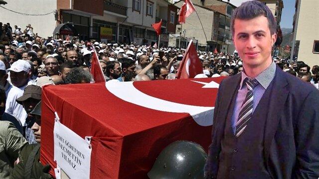PKK'nın katlettiği öğretmenin cenazesi defnedildi