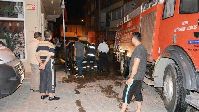 Bursa'da araç kundaklama