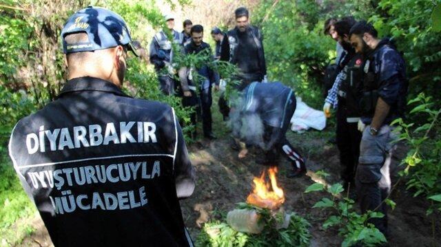 Diyarbakır'da narkoterör operasyonu.