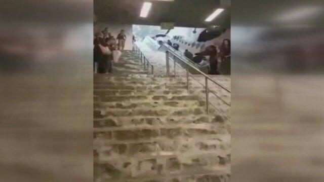 Gayrettepe metrosu sular altında