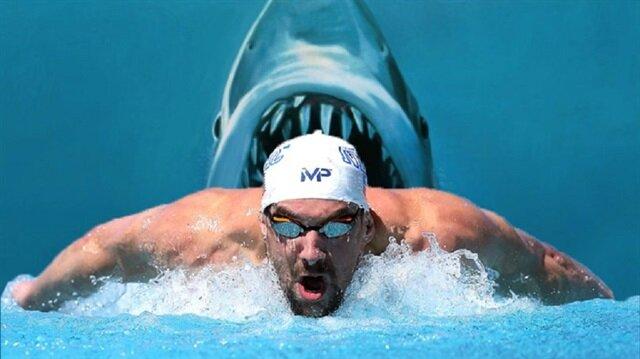 Rio 2016'nın ardından kariyerine nokta koyan Michael Phelps, özel bir etkinlik kapsamında köpek balığı ile yarıştı.