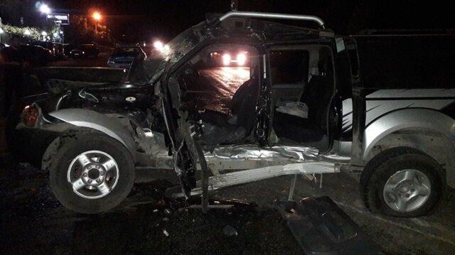 Kazada, araç sürücüsü Şaban Çakal'ın durumunun ağır olduğu öğrenildi.