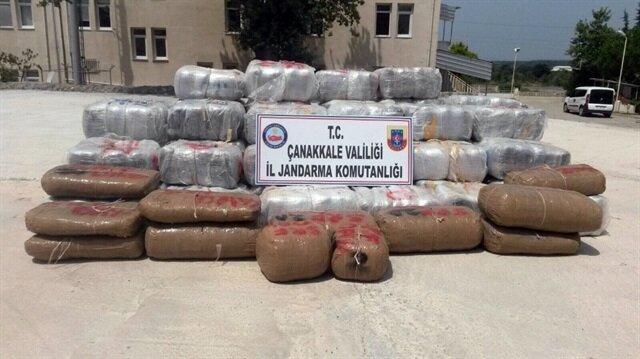 PKK'ya ait 1,5 ton esrar ele geçirildi.
