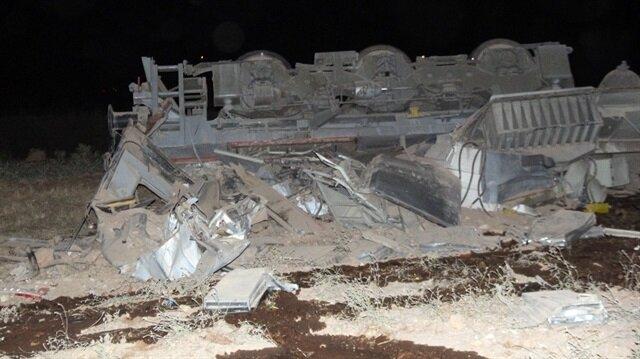 Elazığ'da yük treni raydan çıkması sonucu devrildi