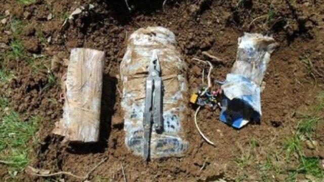 Bitlis'te yola tuzaklanan patlayıcı imha edildi