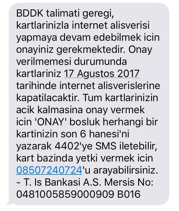 29c460c4e919c İş Bankası kredi kartı internet kullanımına açma işlemleri 2017