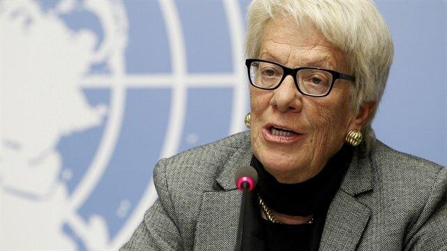 Birleşmiş Milletler'in Suriye araştırma komisyonu üyesi Carla del Ponte istifa etti.
