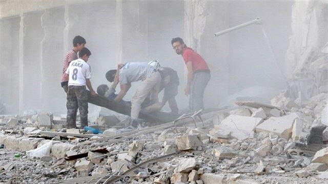 Assad regime continues its massacre dropping 'barrel bombs'