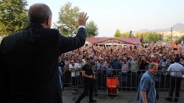 Cumhurbaşkanı Erdoğan Sarayburnu Camisi'nin açılışını yaptı.
