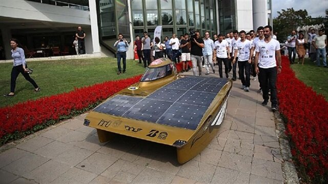 "Supported by the Ministry of Development and Istanbul Development Agency (ISTKA) and designed by ITU's Solar Car Team, ""B.O.W ISTKA"" was launched at Istanbul Technical University."