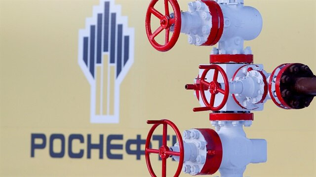 The logo of Russian state oil company Rosneft