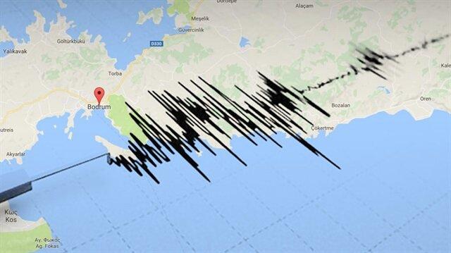 Bodrum'da 4.7 şiddetinde deprem meydana geldi.