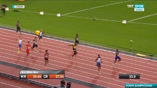 Usain Bolt son yarışını bitiremedi