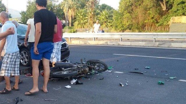 Muğla Haber: Köyceğiz'de otomobil motosikletle çarpıştı; 1 yaralı