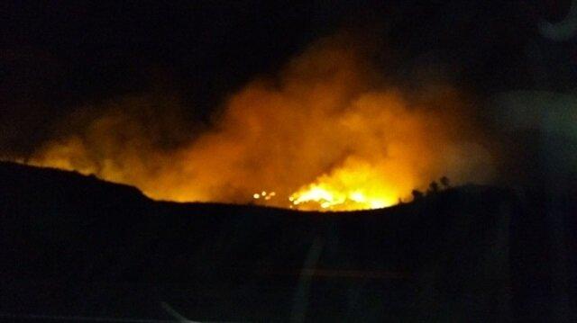 Siirt'te orman yangını haberi