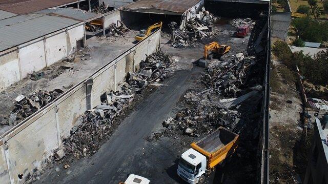 Gaziantep'te bir iplik fabrikasında meydana gelen yangın 15 saatte söndürülebilmişti.