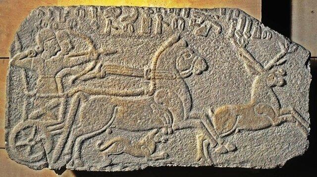 Hitit Kralı Maradas'ın geyik avı kabartması