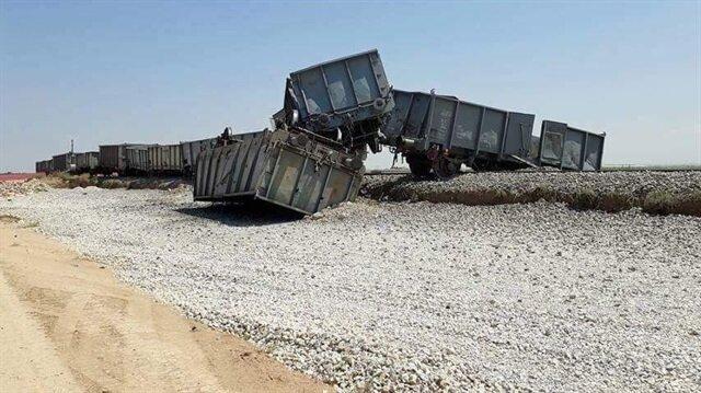 Trenin 4 vagonu raylardan çıktı.