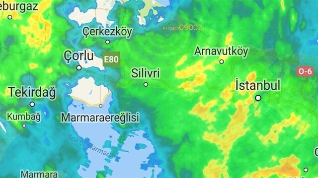 İstanbul'un beklenen yağış başladı
