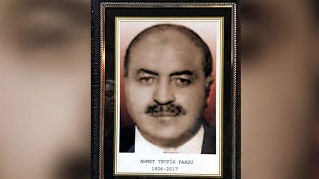 Eski Çalışma ve Sosyal Güvenlik Bakanı Ahmet Tevfik Paksu