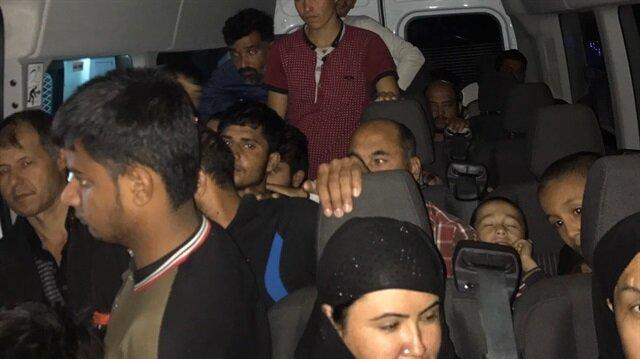 Solhan'da yasa dışı yollarla ülkeye giren 40 kişi yakalandı.