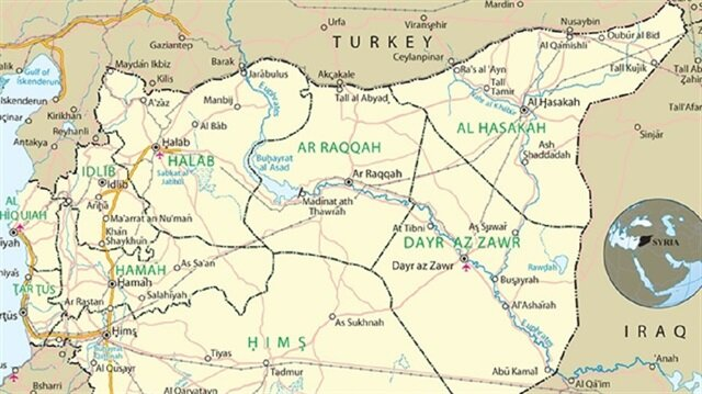 PKK Terrorists Occupy Five SyriaTurkey Border Crossings - Map of syria and turkey