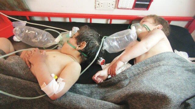 Esed İdlib'de sarin kullandı