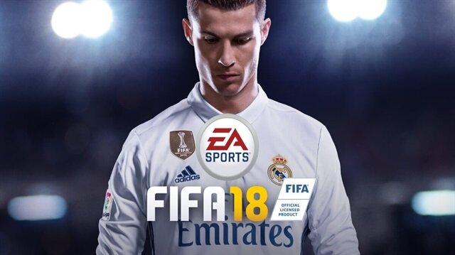 FIFA 18'in kapak fotoğrafında yıldız futbolcu Ronaldo yer alıyor.
