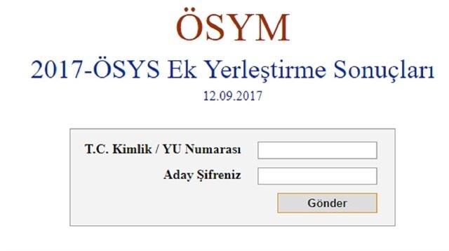 Yükseköğrtim programlarına kayıt işlemleri-2017 ÖSYS ek yerleştirme sonuçları belli oldu