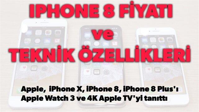 iPhone 8 Türkiye fiyatı, iPhone 8 özellikleri ve iPhone 8 foto galerisi haberimizde.