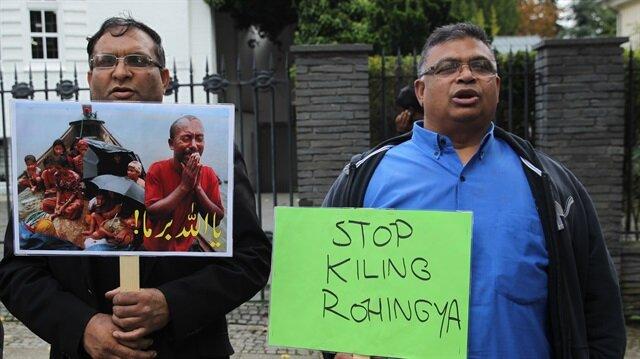مظاهرة في برلين تندد بأعمال العنف ضد مسلمي أراكان