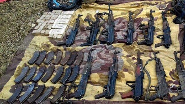 Iğdır'da düzenlenen operasyonda PKK terör örgütünün kullandığı sığınak ve çok sayıda mühimmat imha edildi.