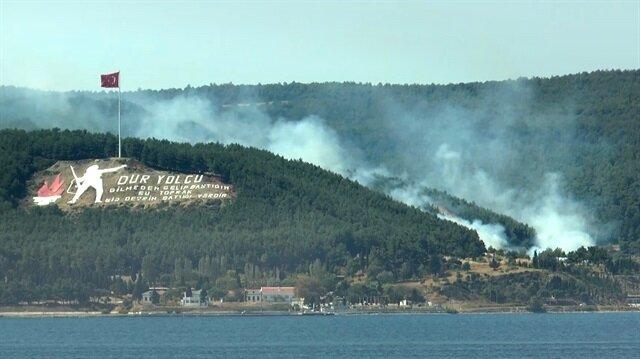 Tarihi yarımadada orman yangını