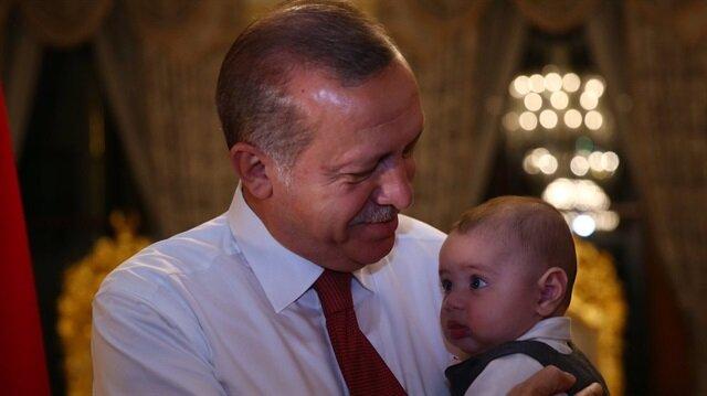Cumhurbaşkanı Erdoğan merak edilen bebeği anlattı