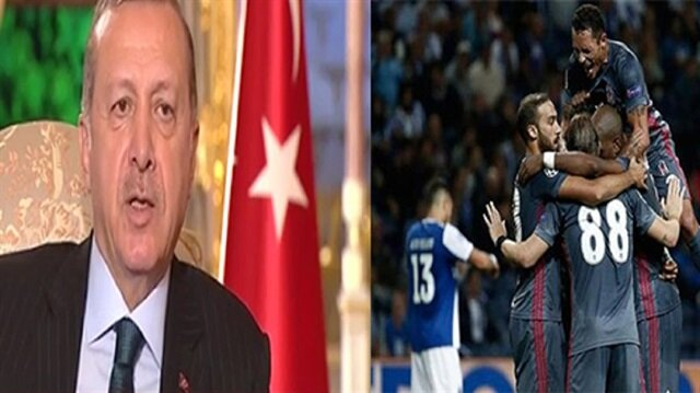 Erdoğan'dan Beşiktaş'a övgü