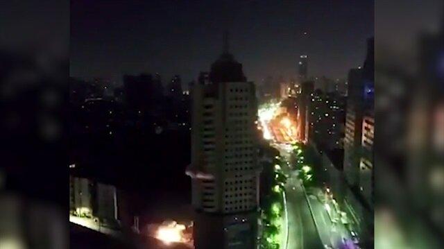 108 metrelik gökdelen 6 saniyede böyle yıkıldı