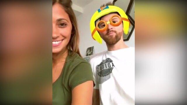 Messi ve eşinin eğlenceli anları