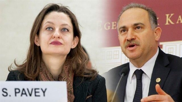 CHP Milletvekili Şafak Pavey ve CHP Grup Başkanvekili Levent Gök