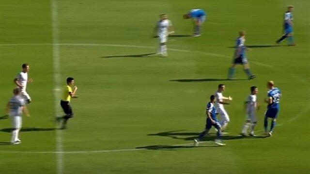 Soren Eismann attığı golle Meppen'li oyuncuların tepkisini çekti.