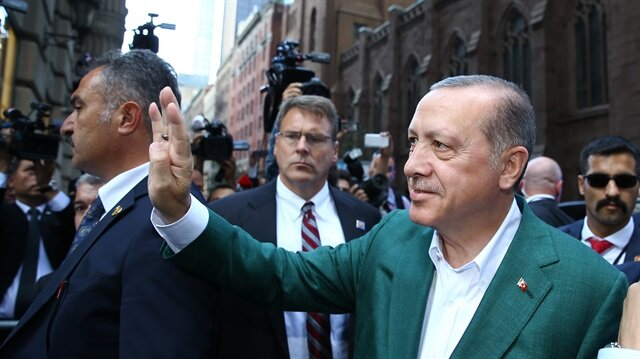 President Erdoğan receives warm welcome in New York