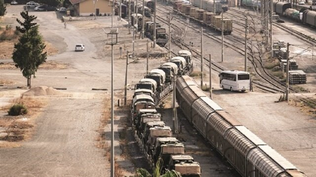 Turkey's military shipment to the Hatay-Kilis line continued.