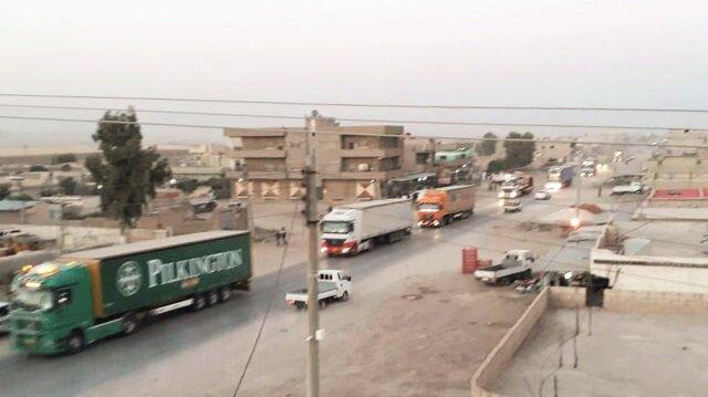 200 tır yardım, Suriye'deki örgüt unsurlarına gönderildi.