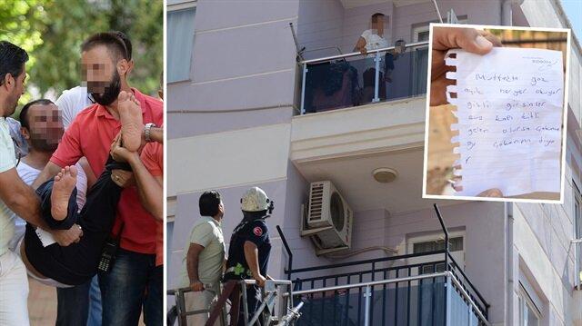 Kadının balkondan bıraktığı not aileyi kurtardı