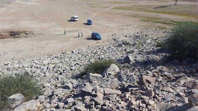 Olay yerinde jandarma ekipleri incelemede bulundu.