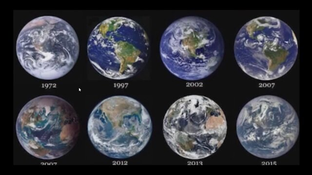 Nasa tarafından yıllara göre paylaşılan Dünya fotoğrafları