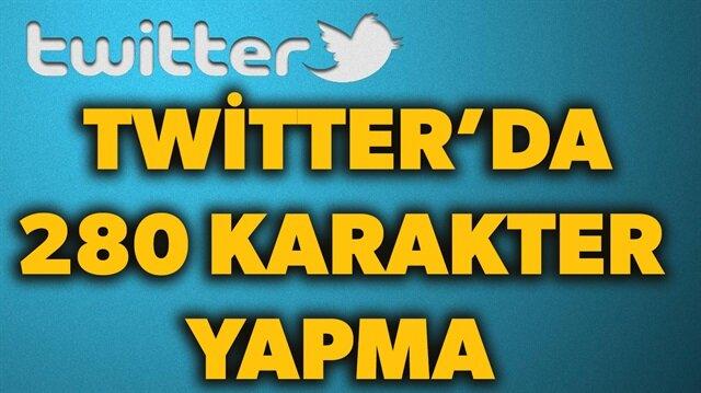 Twitter'da 280 karakter nasıl yapılır? sorusunun yanıtı haberimizde.